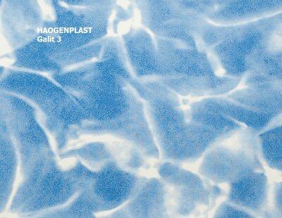 "Пленка ПВХ 1,65х25 м ""Haogenplast Print"", Galit NG Blue/Blue Sparks , светлый мрамор"