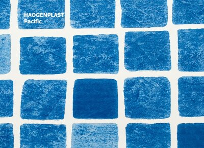 "Пленка ПВХ 1,65х25,00м ""Haogenplast Print"", Pacific, мозаика синяя"