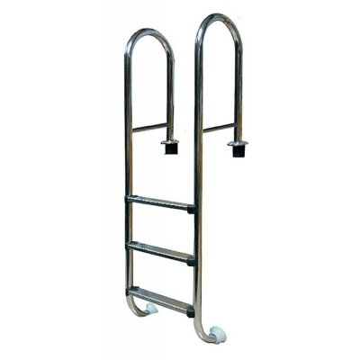 Лестница усиленная 3 ступ. с накладкой люкс, нерж. AISI-304 (узкий борт) POOL KING, MRO203