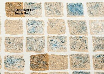 "Пленка ПВХ 1,65х25,00м ""Haogenplast Print"", Snapir NG Earth, мозаика бежевая"