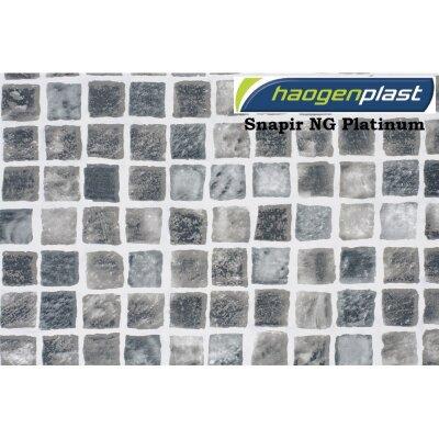 "Пленка ПВХ 1,65х25,00м ""Haogenplast Print"", Snapir NG Platinum, мозаика платиновая /"