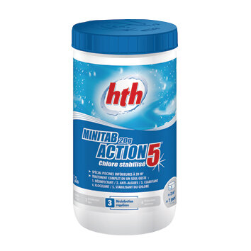 Таблетки хлора 20 гр. MINITAB ACTION 5 в 1, HTH