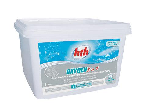 HTH OXYGEN 3 в 1 таблетки 200 гр 3,2 кг, HTH