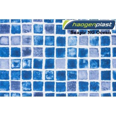 "Пленка ПВХ 1,65х10,00м ""Haogenplast Print"", Snapir NG Blue/Ocean, мозаика синяя , ребристая"