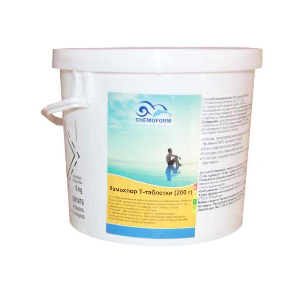 Кемохлор Т таблетки 200 гр 5 кг, Chemoform