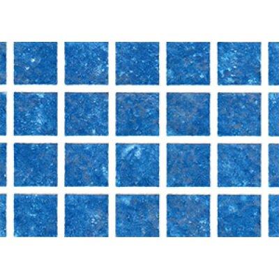 """Пленка ПВХ 1,65х25,00м """"Haogenplast Matrix"""",  Blue-3D, мозаика синяя -3D"""