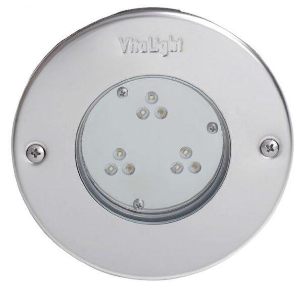 Светильник светод.Vitalight Power-LED,белый,9x3Вт,24В, накл.AISI-316L, корп.RG-бронза,бетон, каб. 5м