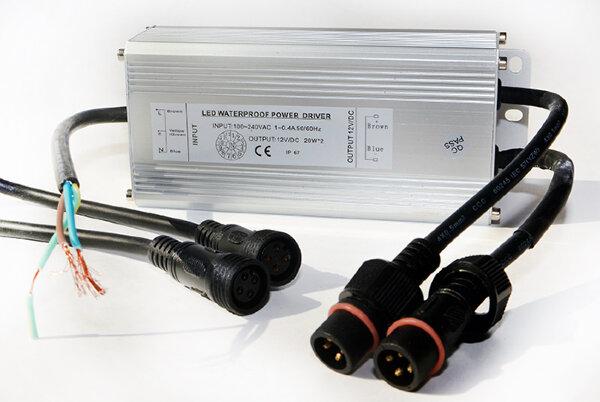 Трансформатор RGB 36Вт/12В для 2-х светодиодных светильников 15(12)Вт типа TLQP