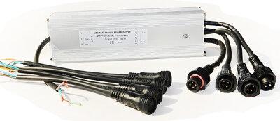 Трансформатор RGB 100Вт/12В для 4-х светодиодных светильников 20(15,12)Вт типа TLQP