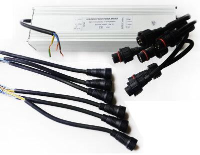 Трансформатор RGB 100Вт/12В для 6-ти светодиодных светильников 15(12)Вт типа TLQP
