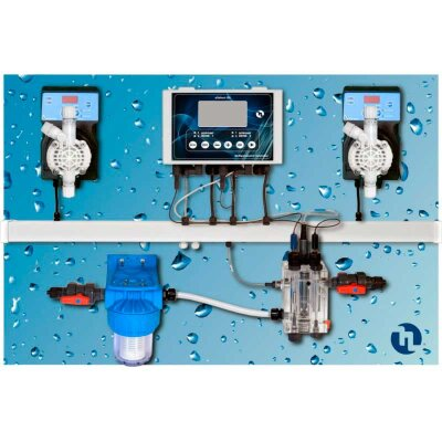Станция дозации Pool Top Guard pH/Rx/Cl/T Panel (Sonda Cl) 0-2 ppm