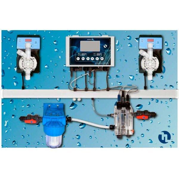 Станция дозации Pool Top Guad pH/Rx/C/T Panel (Sonda Cl)