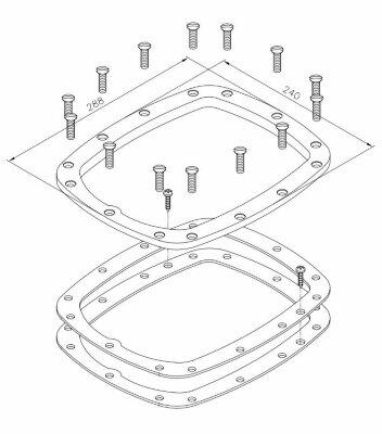Комплект креплений для закладной противотока Astralpool /11503/