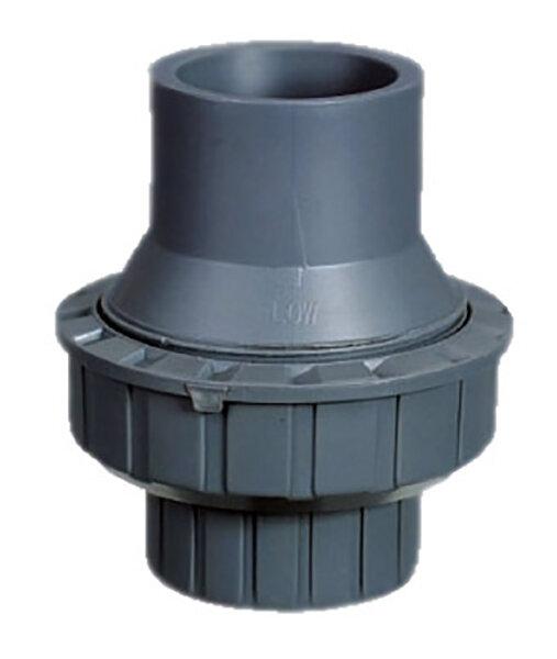 Обрат.клапан 1-муфтовый подпружиненный ПВХ 1,0 МПа d.50мм
