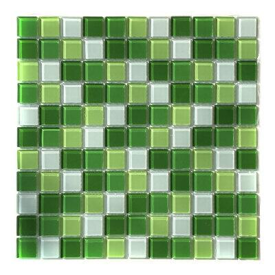 Мозаика для бассейна стеклянная Aquaviva Сristall Green Light DCM173