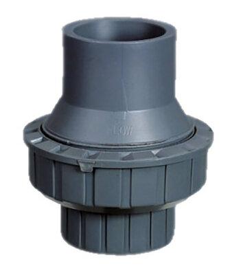 Обрат.клапан 1-муфтовый подпружиненный ПВХ 1,0 МПа d.63мм