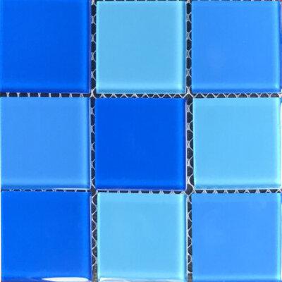 Мозаика для бассейна стеклянная Aquaviva Cristall Light Blue (48 мм)