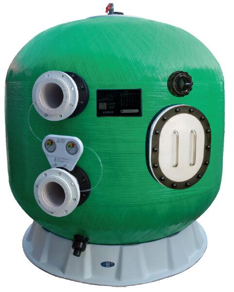 """Фильтр шпул.навивки озоноуст.Д.2000мм,125м3/ч выс1.2м,подкл.6""""труб.,доп.опции POOL KING/K2000.OZ.тд/"""