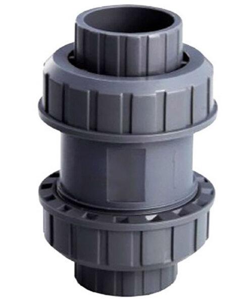Обрат.клапан ПВХ 1,0 МПа d.50мм (без пружины)