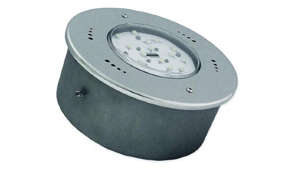 Светильник светодиодный встриваемый D250, 54Вт/12В, бел. свеч., нерж.сталь AISI-304, пленка