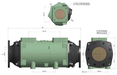 Теплообменник BOWMAN 1055кВт, трубки  купроникель
