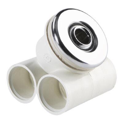 Форсунка гидромассажная нерегулируемая из хром. бронзы с закладной из ABS-пластика Astralpool/04092