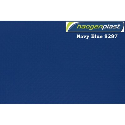 "Пленка ПВХ 1,65х25 м ""Haogenplast Unicolors"", Navy Blue, темно-синий /8287"
