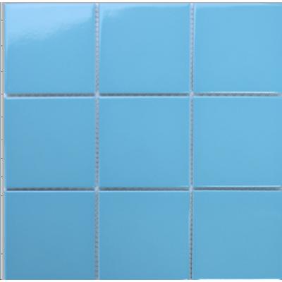 Керамическая мозаика для бассейна AquaViva C3477 глянцевая голубая